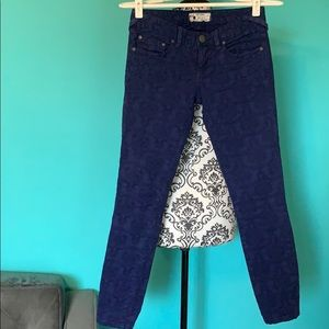 Free People Lace Patterned Skinny Jeans 25